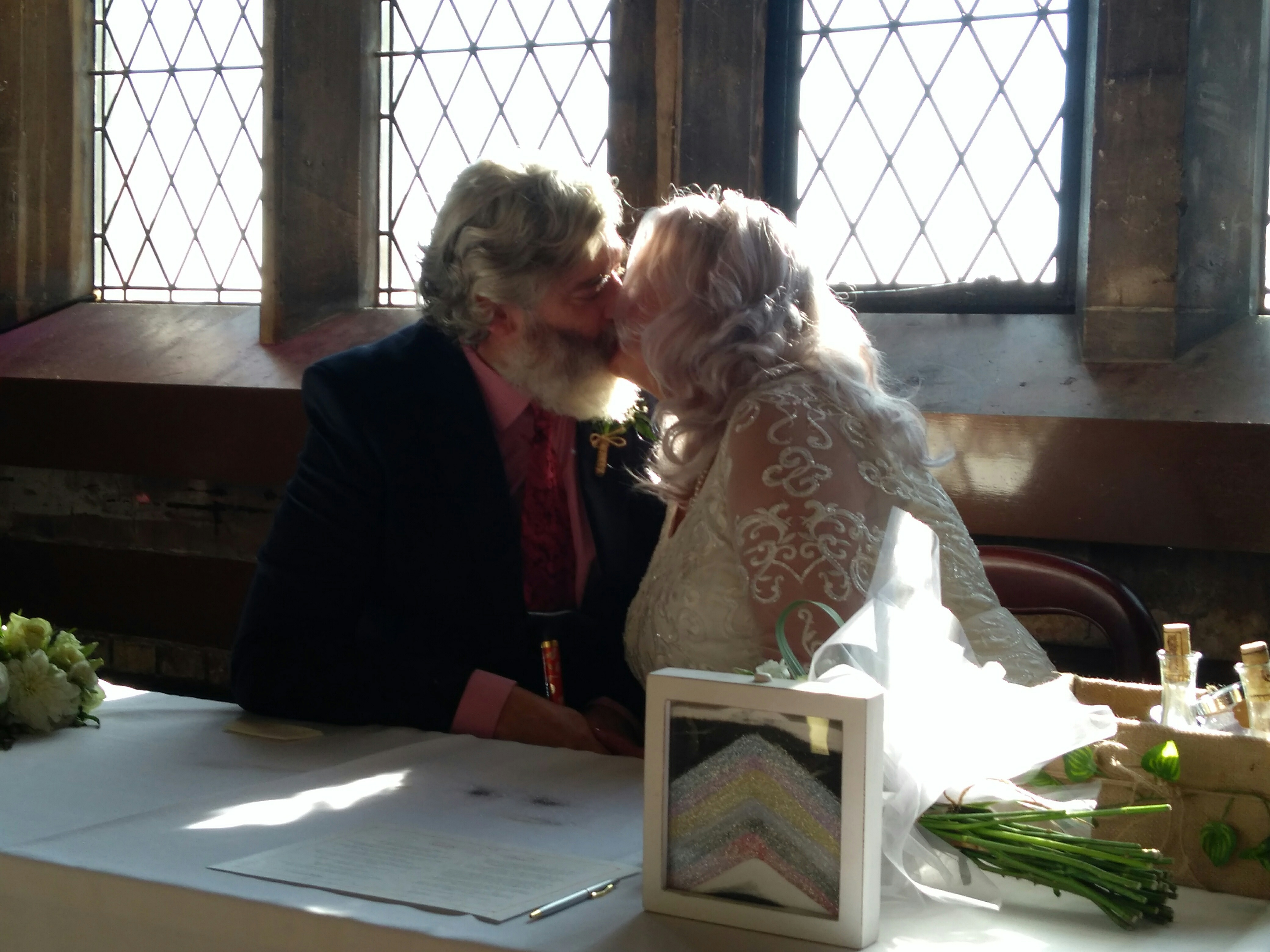 Sand cermony and vow signing